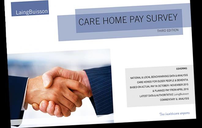 care home pay survey